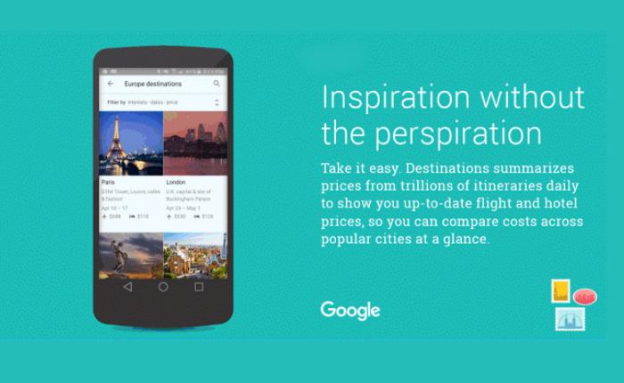 Google เพิ่มฟีเจอร์ Destination ตัวช่วยสำคัญของนักท่องเที่ยว
