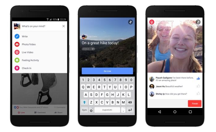 Facebook เตรียมเปิดให้ผู้ใช้ Android ใช้ Facebook Live ได้แล้ว
