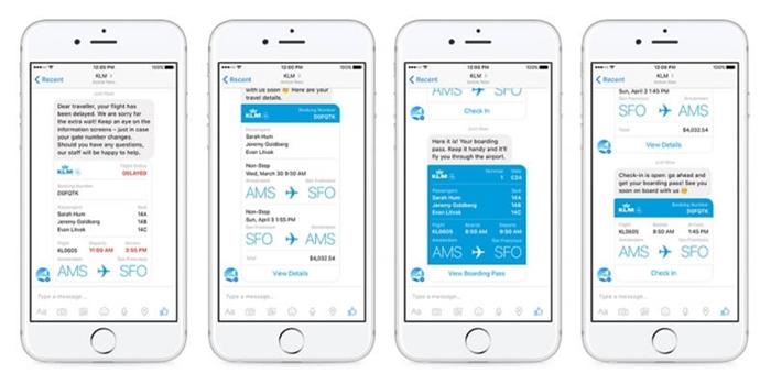 สะดวกสุดๆ…สายการบิน KLM เปิดให้เช็คอินผ่านแอพฯ Messenger ได้แล้ว