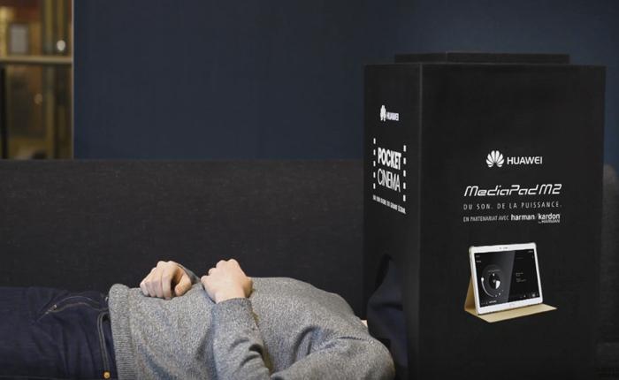 Huawei สร้างโรงหนังจิ๋วจากล่องกระดาษนอนดูหนังประดุจโฮมเธียร์เตอร์