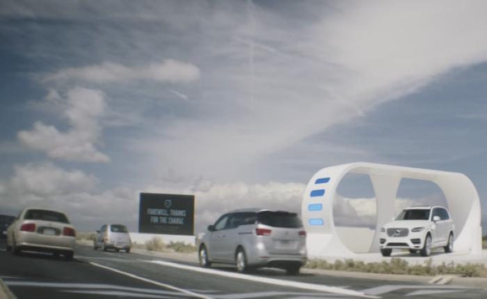 วอลโว่สร้างถนนเส้นพิเศษใช้พลังงานจากรถแบรนด์อื่นมาเสริมทัพให้รถตัวเอง
