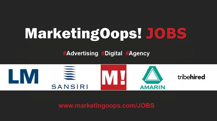งานล่าสุด จากบริษัทและเอเจนซี่โฆษณาชั้นนำ #Advertising #Digital #JOBS 02 – 08 Apr 2016