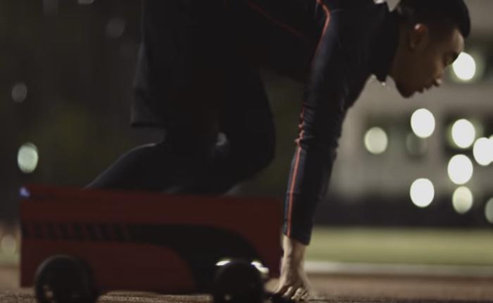 พูม่าสร้างกล่องรองเท้าไฮเทคติดล้อ ใช้เป็นคู่แข่งคู่ซ้อมให้กับนักวิ่ง