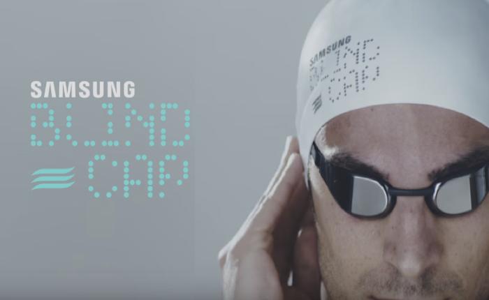 Samsung นำเทคโนโลยีล้ำช่วยสร้างนวัตกรรมหมวกว่ายน้ำสำหรับคนตาบอด