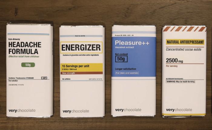 แบรนด์ช็อกโกแลต เปลี่ยนแพคเกจคล้ายห่อยา เพื่อชี้ว่าช็อคโกแลตสามารถรักษาและบำบัดสารพัดอาการได้จริง