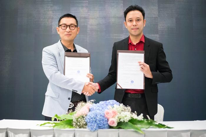 MOU ระหว่างคุณบัญชา CEO บ.Next Cube และคุณจักรพันธ์ บ.JP Group