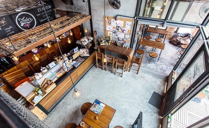Timber Café คาเฟ่สไตล์ลอฟท์ เรือนกระจกขรึมเท่เผยเนื้อแท้ของวัสดุ