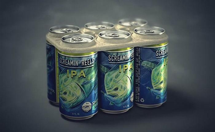 น่าชื่นชม! ผู้ผลิตเบียร์พัฒนาแพ็กเกจเบียร์กระป๋อง ให้ย่อยสลายได้ 100% แถมสัตว์ทะเลยังกินได้ด้วย