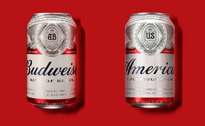Budweiser เซอร์ไพรส์ ดีไซน์ฉลากใหม่เป็นคำว่า America หวังปลุกความเป็นชาตินิยม