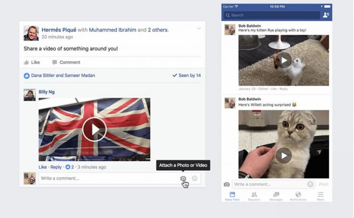 อัปเดตล่าสุด Facebook เปิดให้โพสต์วิดีโอในกล่องคอมเมนท์ได้แล้ว