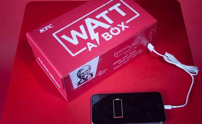 KFC อินเดีย ไอเดียล้ำ! ออกแบบกล่องใส่ไก่ทอดที่สามารถชาร์จแบตมือถือได้