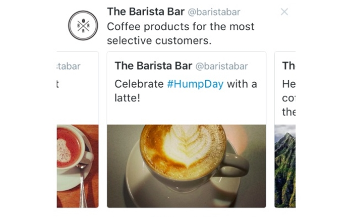 Twitter เริ่มทดลองใช้โฆษณา Carousel Ad