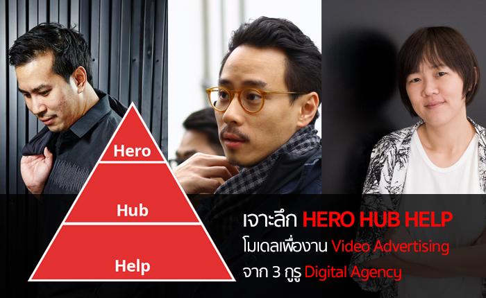 เจาะลึก HERO HUB HELP โมเดลเพื่องาน Video Advertising จาก 3 กูรู Digital Agency