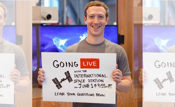 เอาซี่! มาร์ค ประกาศจะทำการ Facebook Live แบบสดๆ กับนักบินอวกาศที่นอกโลก
