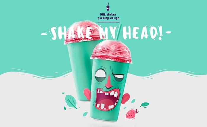 Shake My Head! แก้วน้ำมิลค์เชคดีไซน์สุดมันส์