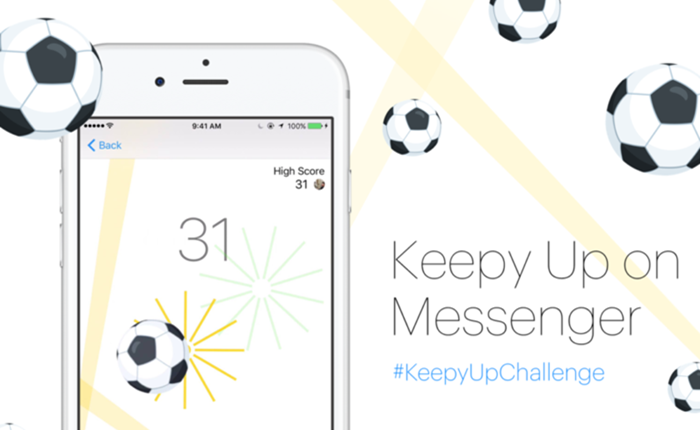 รับกระแสบอลยูโร 2016 แอพฯ Messenger ชวนผู้ใช้มาเดาะบอล ⚽