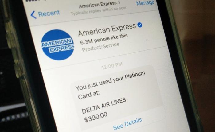 บัตรเครดิต Amex รุก Conversation Commerce ออกหุ่นยนต์คอลเซ็นเตอร์ในกล่องแชตเฟสบุ๊ก