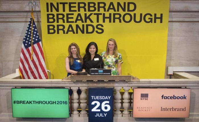 Interbrand ประกาศรายชื่อสุดยอดแบรนด์ล้ำนวัตกรรมรุ่นใหม่แห่งปี Breakthrough brands 2016