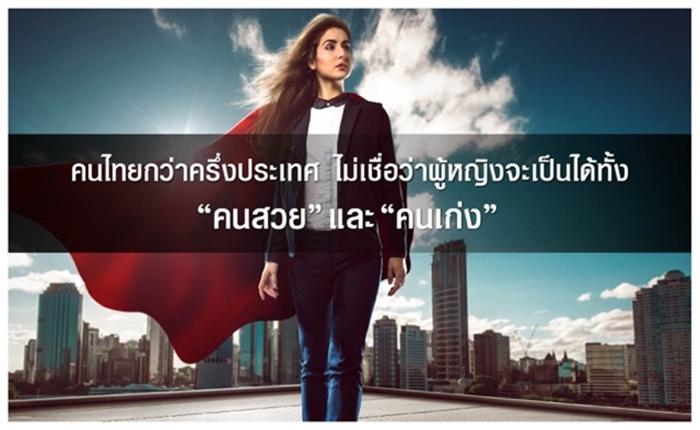 """ผลสำรวจชี้ คนไทยกว่าครึ่งประเทศ เชื่อว่า """"ผู้หญิงสวยมักไม่เก่ง ผู้หญิงเก่งมักไม่สวย"""""""