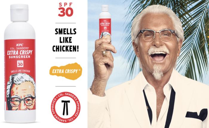 KFC ต้อนรับหน้าร้อน แจกฟรี ส่งครีมกันแดดกลิ่นไก่ทอด!