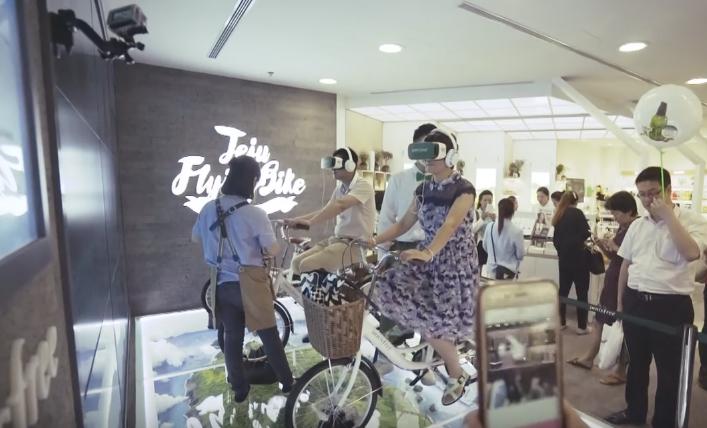 เครื่องสำอางเกาหลีหาวิธีใหม่เอาใจลูกค้าจีนไฮเทค เปิดซุ้มใส่แว่น VR ปั่นจักรยานทัวร์ได้ทั้งเกาะเชจู