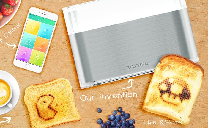 """เครื่องปิ้งขนมปังสุดไฮเทค อยากได้แบบไหน สั่งผ่านแอปฯ """"Toasteroid"""" ได้ทันที"""
