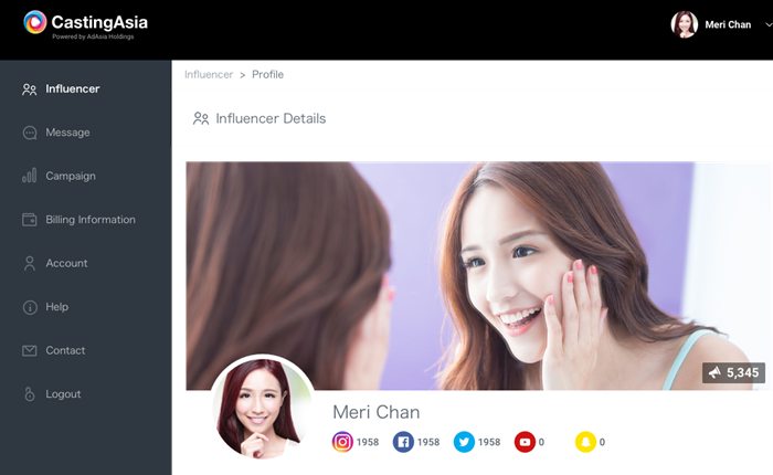 AdAsia เปิดตัว แพลตฟอร์มน้องใหม่ CastingAsia เพื่อการตลาดผู้ทรงอิทธิพลบนโลกออนไลน์
