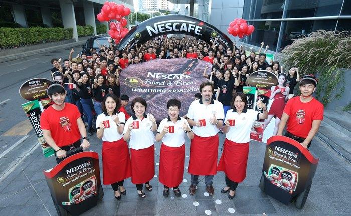 เนสท์เล่ซีอีโอนำทีมพนักงาน 200 คน เสิร์ฟความอร่อยของเนสกาแฟ เบลนด์ แอนด์ บรู 4 ล้านแก้วให้คนไทยทั่วประเทศ