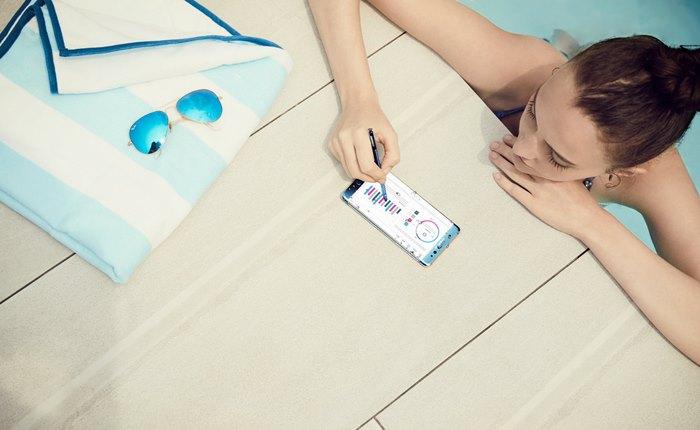 """ซัมซุงเผยโฉม """"กาแลคซี่ โน้ต 7"""" สมาร์ทโฟนที่ไม่ธรรมดา ให้เราทำในสิ่งที่ไม่เคยทำได้มาก่อน ด้วยปากกา S Pen กันน้ำ กันฝุ่น เขียนได้แม้จอเปียก"""