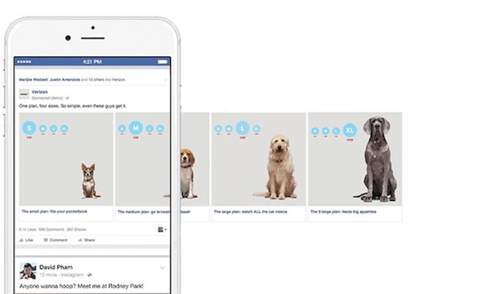 Facebook เปิดให้แบรนด์เพิ่มภาพ-วิดีโอ ในโฆษณาแบบ Carousel ได้สูงสุด 10 ภาพ