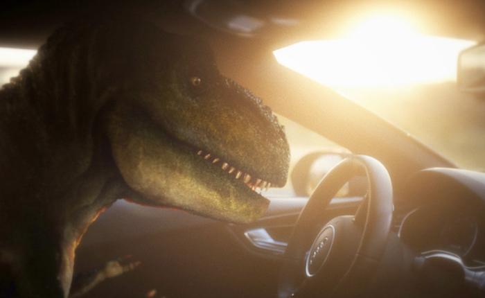 Audi ชุบชีวิตใหม่ให้ไดโนทีเร็กซ์แขนสั้น ด้วยรถที่ขับเองได้!