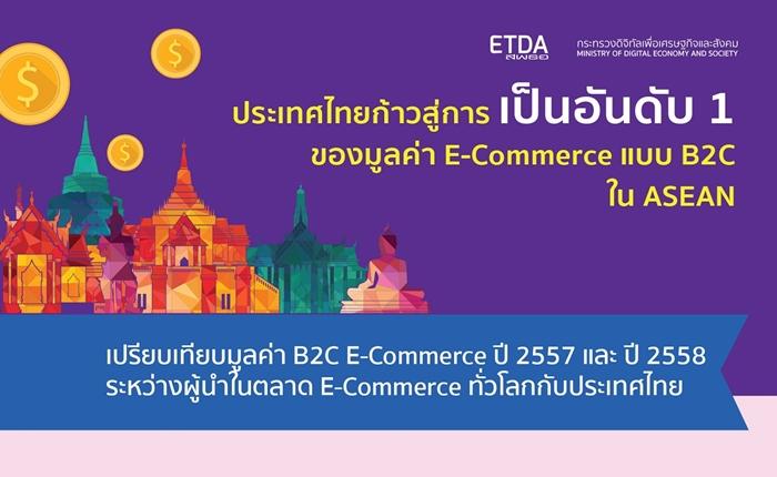 ETDA เผยผลสำรวจมูลค่าอีคอมเมิร์ซไทยเพิ่มขึ้นต่อเนื่อง คาดการณ์ปี 59 โตถึง 12.4%