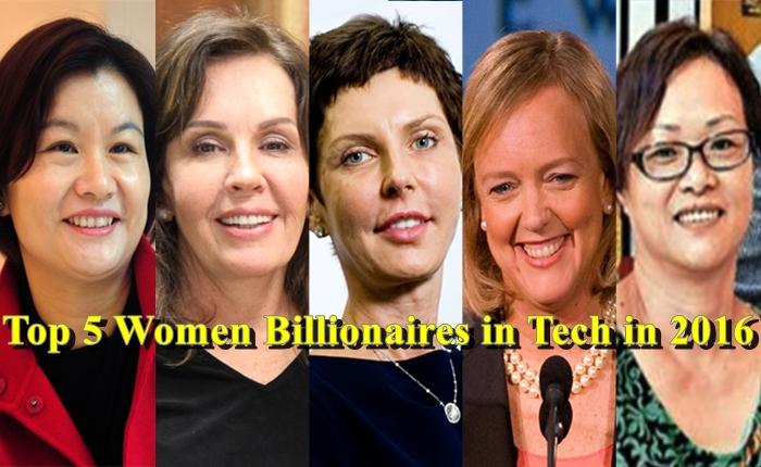 5 สุภาพสตรีที่ร่ำรวยจากธุรกิจด้านเทคโนโลยีปี 2016