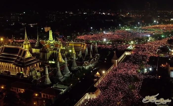 ชมคลิปฉบับรวมกลางวัน-กลางคืน ที่พสกนิกรไทยรวมใจร้องเพลงสรรเสริญพระบารมี