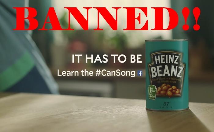 อังกฤษสั่งแบน!! ระงับการออกอากาศโฆษณาเคาะกระป๋องถั่ว Heinz หวั่นเป็นอันตรายต่อเยาวชน