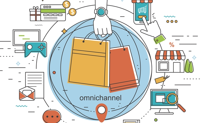 omni-channel concept illustration