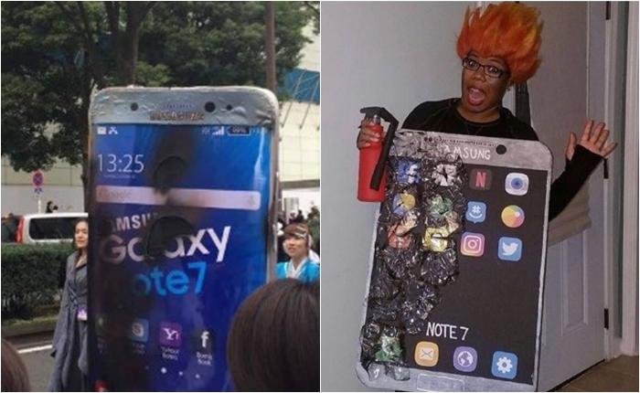 ชุด Samsung Note7 กลายเป็นคอสตูมยอดฮิตในฮาโลวีนปี 2016