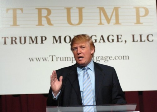 Donald Trump New York City Press Launch For Latest Venture Trump Mortgage LLC