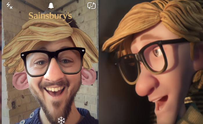 ห้างดังจากอังกฤษ เอาการ์ตูนในหนังโฆษณา มาต่อยอดเป็นเลนส์ใน SnapChat สร้างไวรัลช่วงเทศกาลของขวัญ