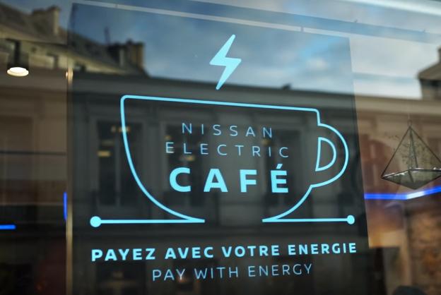 นิสสันเปิดร้านคาเฟ่ชั่วคราว ชวนลูกค้าปั่นจักรยานสร้างพลังงานสะอาด แล้วรับกาแฟไปดื่มฟรี