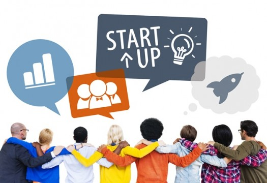Diverse Friends With Start-Up Business