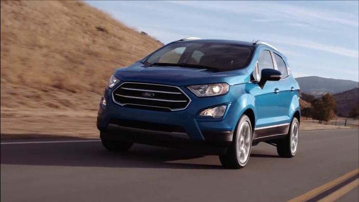2018-Ford-EcoSport-Titanium-front-three-quarters-left-side