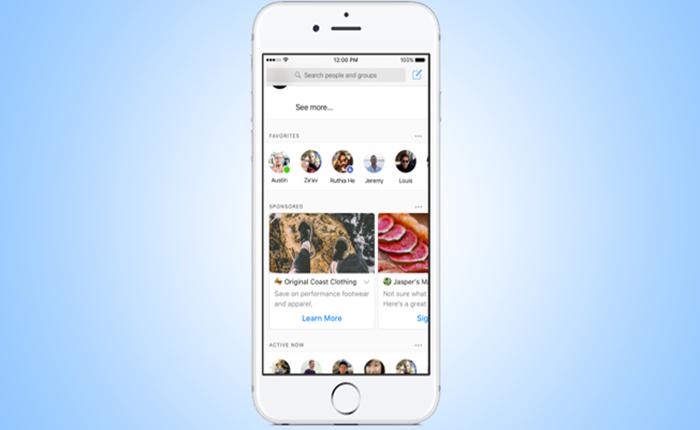 ช่องทางใหม่ของการทำการตลาด?! Facebook ทดลอง เตรียมแทรกโฆษณาที่หน้า Home Screen ของแอพพลิเคชั่น Messenger