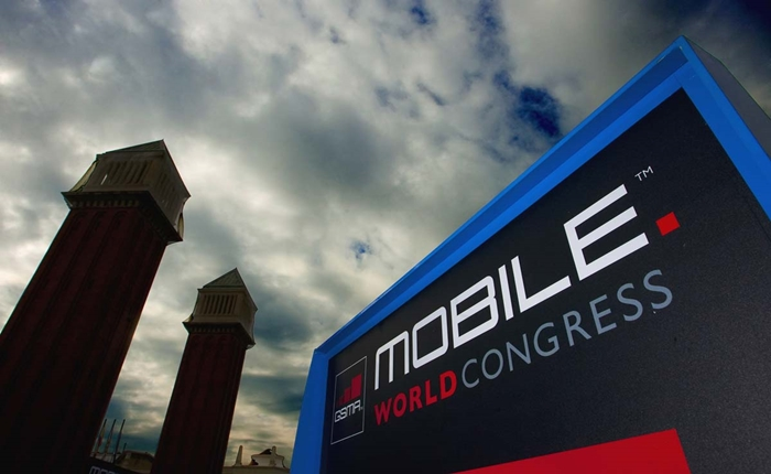 A sign reading 'Mobile World Congress' i
