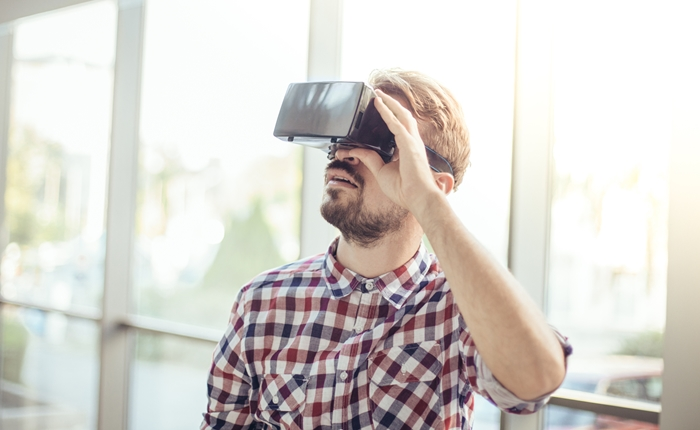Using virtual reality headset