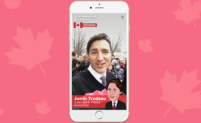 Justin Trudeau นักการเมืองคนแรกที่ใช้ Snapchat สื่อสารกับคนรุ่นใหม่