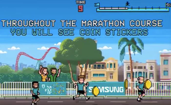 ซัมซุงเปลี่ยนอีเว้นท์วิ่งมาราธอนให้มันเหมือนเกมมาริโอ้ นักวิ่งๆ ผ่านเหรียญเก็บแต้มนำไปบริจาคได้