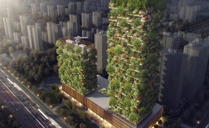 """จีนสู้มลพิษทางอากาศแบบล้ำ ๆ เตรียมสร้างป่าไม้แนวตั้ง """"Vertical Forest"""" เป็นประเทศที่ 3 ของโลก"""