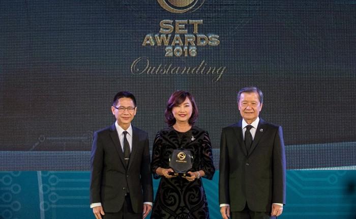 MACO รับรางวัลบริษัทจดทะเบียนด้านผลการดำเนินงานดีเด่น SET Awards 2016