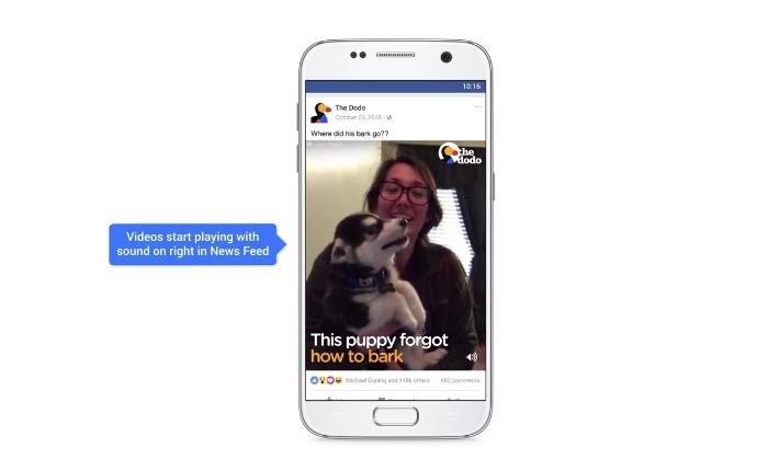 ชีวิตจะไม่เงียบเหงาอีกต่อไป Facebook เตรียมเปิดเสียงวิดีโอในหน้า News Feed